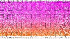 3d teruggevende abstracte geometrische achtergrond met moderne gradiëntkleuren in lage polystijl 3d oppervlakte met rode sinaasap vector illustratie