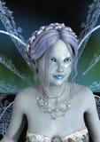3D Teruggevende de Winterfee royalty-vrije stock foto's
