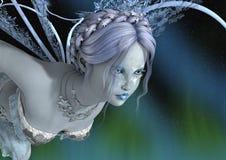 3D Teruggevende de Winterfee Stock Afbeeldingen