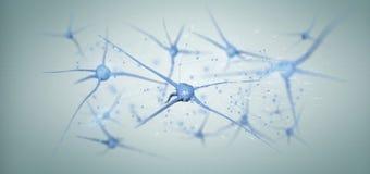 3d teruggevende die groep neuron op een achtergrond wordt geïsoleerd Royalty-vrije Stock Afbeeldingen