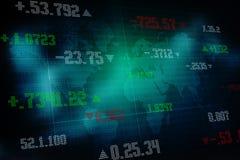 2d teruggevende effectenbeurs online bedrijfsconcept Bedrijfsgrafiekachtergrond Stock Afbeelding