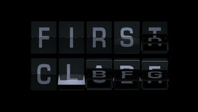 3D Teruggevende Flipboard-Luchthaventermijnen stock video