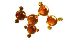 3d teruggevende illustratie van het model van de glasmolecule Molecule van olie Concept olie of gas van de structuur het de model Stock Foto
