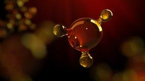 3d teruggevende illustratie van het model van de glasmolecule Molecule van olie Concept olie of gas van de structuur het de model Stock Afbeelding