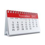 3D teruggevende kalender Royalty-vrije Stock Afbeelding