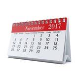 3D teruggevende kalender Stock Afbeeldingen