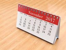 3D teruggevende kalender Royalty-vrije Stock Foto