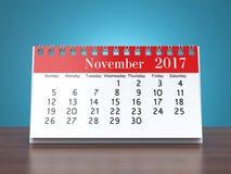 3D teruggevende kalender Royalty-vrije Stock Afbeeldingen
