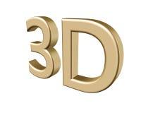 3d teruggevende kleur 3D brieven op witte achtergrond 3D Illustratie Stock Afbeeldingen