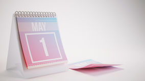 3D Teruggevende In Kleurenkalender - kan 1 stock illustratie