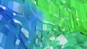 3d teruggevende lage poly abstracte geometrische achtergrond met moderne gradiëntkleuren 3d oppervlakte als beeldverhaalterrein m Royalty-vrije Stock Foto's