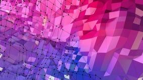 3d teruggevende lage poly abstracte geometrische achtergrond met moderne gradiëntkleuren 3d oppervlakte als beeldverhaalterrein m Royalty-vrije Stock Afbeelding