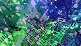 3d teruggevende lage poly abstracte geometrische achtergrond met moderne gradiëntkleuren 3d oppervlakte als beeldverhaalterrein m Stock Afbeeldingen