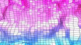 3d teruggevende lage poly abstracte geometrische achtergrond met moderne gradiëntkleuren 3d oppervlakte met blauwe rode gradiënt  Royalty-vrije Stock Foto