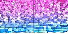 3d teruggevende lage poly abstracte geometrische achtergrond met moderne gradiëntkleuren 3d oppervlakte met blauwe rode gradiënt  Royalty-vrije Stock Afbeelding