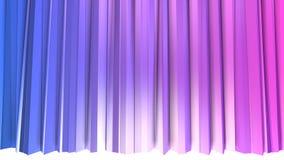 3d teruggevende lage poly abstracte geometrische achtergrond met moderne gradiëntkleuren 3d oppervlakte met blauwe rode gradiënt  Royalty-vrije Stock Foto's