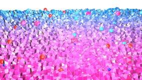 3d teruggevende lage poly abstracte geometrische achtergrond met moderne gradiëntkleuren 3d oppervlakte met rode blauwe gradiënt  Royalty-vrije Stock Afbeelding