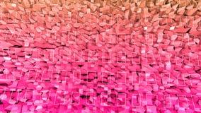 3d teruggevende lage poly abstracte geometrische achtergrond met moderne gradiëntkleuren 3d oppervlakte met rode oranje gradiënt  Stock Afbeelding