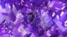 3d teruggevende lage poly abstracte geometrische achtergrond met moderne gradiëntkleuren 3D Oppervlakte V4 Royalty-vrije Stock Fotografie
