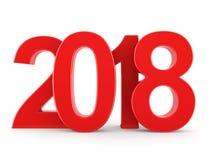 3D teruggevende 2018 Nieuwjaren rode cijfers Royalty-vrije Stock Fotografie