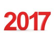 3D teruggevende 2017 Nieuwjaren rode cijfers Royalty-vrije Stock Foto