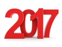 3D teruggevende 2017 Nieuwjaren rode cijfers Stock Fotografie