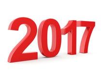 3D teruggevende 2017 Nieuwjaren rode cijfers Stock Afbeeldingen