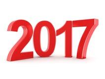 3D teruggevende 2017 Nieuwjaren rode cijfers Royalty-vrije Stock Afbeelding