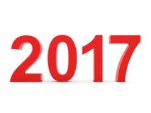 3D teruggevende 2017 Nieuwjaren rode cijfers Royalty-vrije Stock Foto's