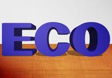 3D testo ECO royalty illustrazione gratis