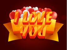 3D Tex for Valentine`s Day celebration. Stock Images