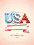 3D text for American Independence Day celebration. Royalty Free Stock Photography