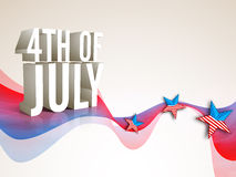 3D text for American Independence Day. Royalty Free Stock Photography