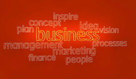 3d text business plan Stock Images