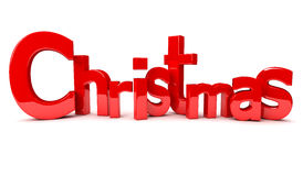 3d text - Christmas Stock Photography