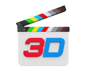 3D Text and Clapper Board Royalty Free Stock Image