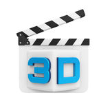 3D Text and Clapper Board Stock Images