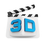 3D Text and Clapper Board Royalty Free Stock Photography