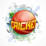 3D text for Cricket Sports concept. Stock Photos