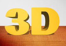 3D text 3D royaltyfri illustrationer