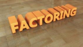 3d text factoring Stock Photography