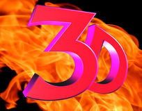 3d text on fire background. 3d rendering. 3d text on fire background Stock Image