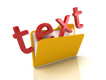 3d Text in Folder Royalty Free Stock Photography