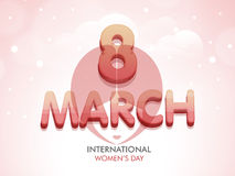 3D text with girl face for International Womens Day. Royalty Free Stock Photography