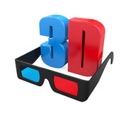 3D Text and Glasses Royalty Free Stock Photography