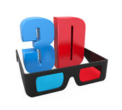3D Text and Glasses Royalty Free Stock Image