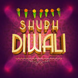 3D text for Happy Diwali celebration. Stock Image