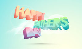 3D text for Happy Fathers Day celebration. Stock Image