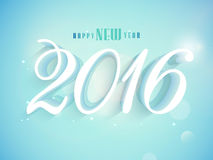 3D text 2016 for Happy New Year celebration. 3D text 2016 on shiny sky blue background for Happy New Year celebration Stock Photo