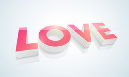 3D text for Happy Valentine's Day celebrations. Stock Image